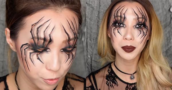maquillaje de araña halloween paso 5