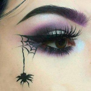 maquillaje-de-araña-mujer-2
