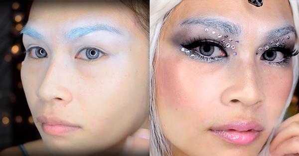 maquillaje de unicornio paso 2