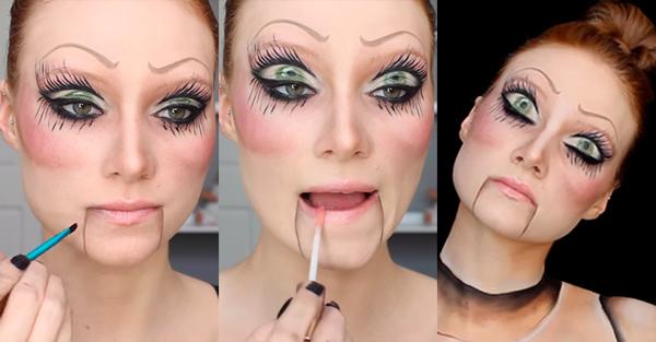 Maquillaje De Muñeca Diabólica Para Halloween 2018 Maquillajedeorg